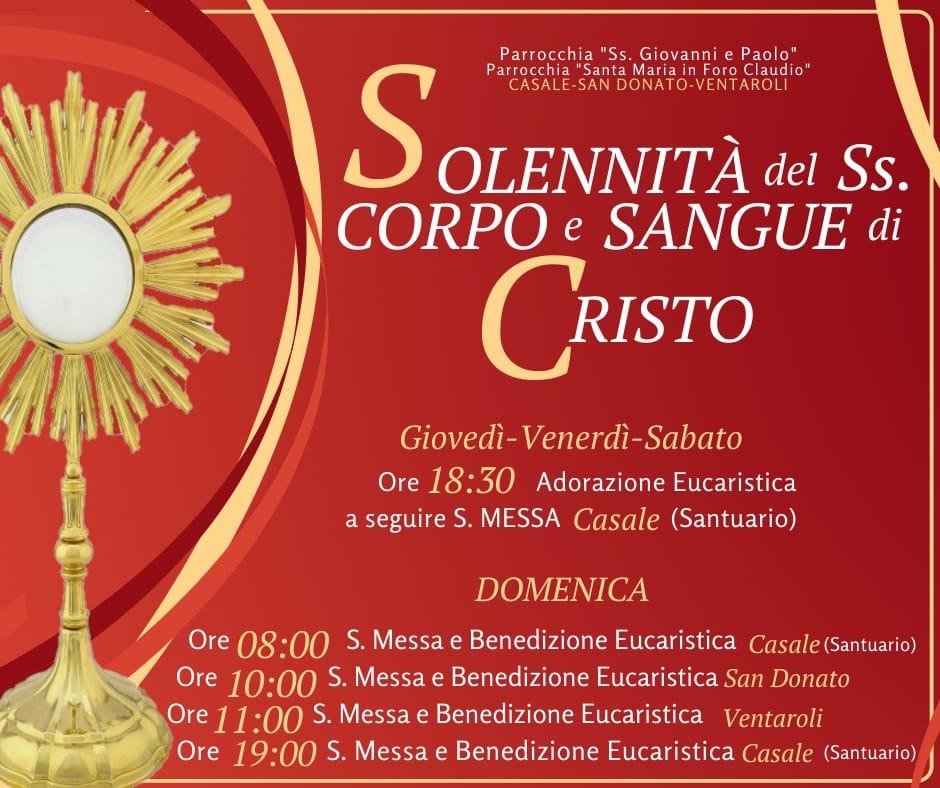 Solennità Corpus Domini