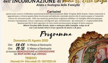 S. Maria delle Grazie: 60° dell'Incoronazione.